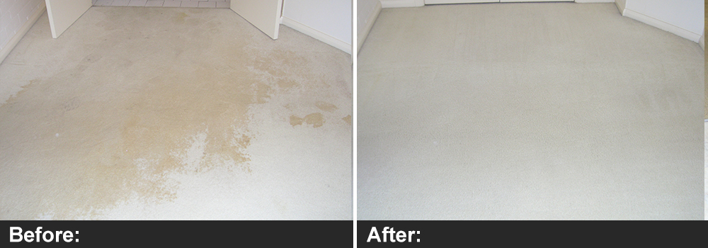 Residential water damage before and after jobs